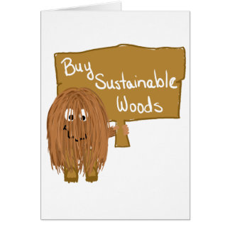 Brown sustainable woods greeting card