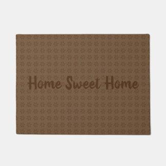 Brown Swirl leaf design Doormat