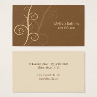 Brown Swirls Business Card