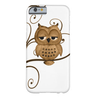 Brown Swirly Tree Owl iPhone 6 case