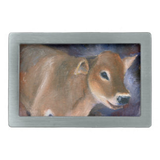 Brown Swiss Calf Belt Buckle