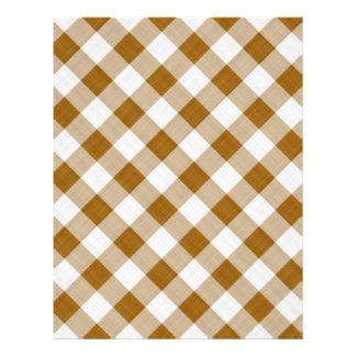 brown table cloth custom letterhead