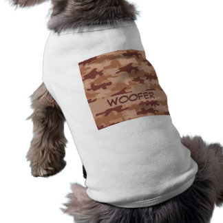 Brown Tan Camo Camouflage Name Personalized Pet Tee Shirt
