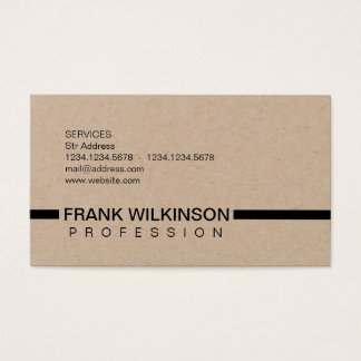 Brown tan carbon style business card
