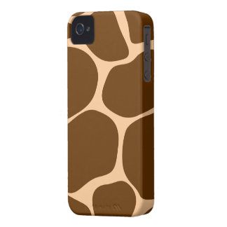 Brown/Tan Giraffe Print - iPhone 4/4s Case