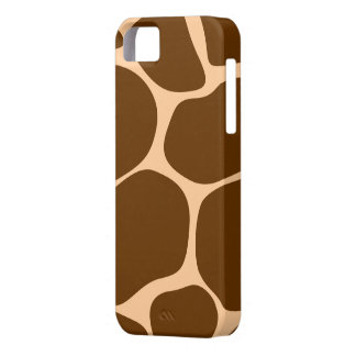 Brown/Tan Giraffe Print - iPhone 5 Case