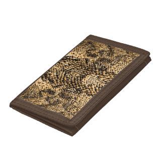Brown & Tan Snake Skin Look Tri-fold Wallet