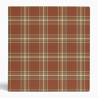 Brown Tartan Binder
