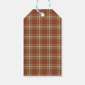 Brown Tartan Gift Tags