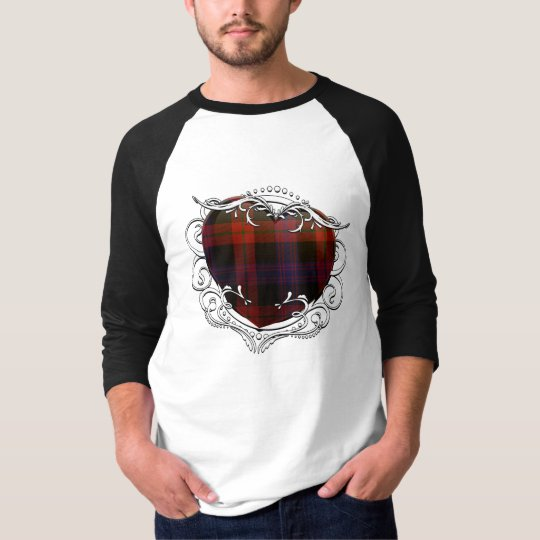 Brown Tartan Heart T-Shirt