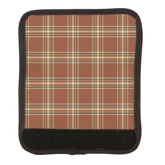 Brown Tartan Luggage Handle Wrap