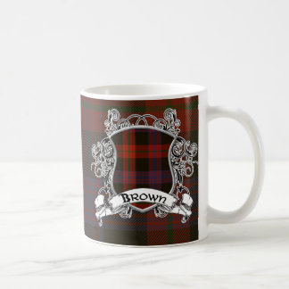 Brown Tartan Shield Coffee Mug