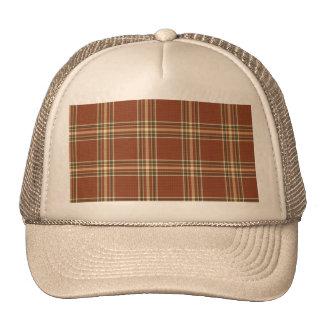Brown Tartan Trucker Hat