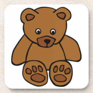 Brown Teddy Bear Coasters