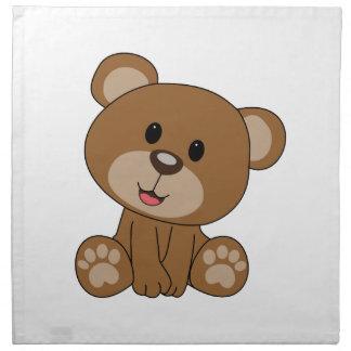 Brown Teddy Bear Napkins