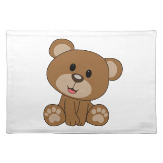 Brown Teddy Bear Placemat