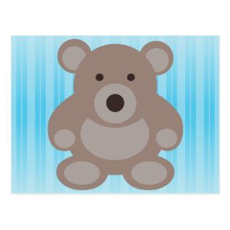 Brown Teddy Bear Postcard