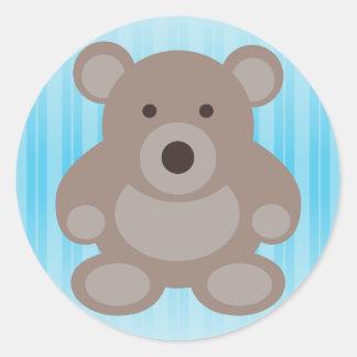 Brown Teddy Bear Stickers