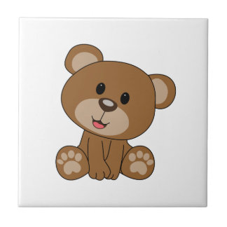 Brown Teddy Bear Tile
