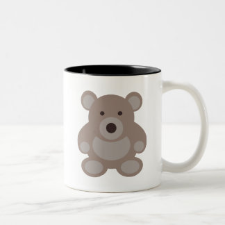 Brown Teddy Bear Two-Tone Coffee Mug