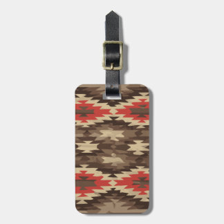 Brown/Terra Cotta Navajo Pattern Luggage Tag