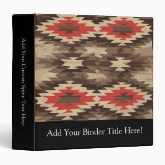 Brown/Terra Cotta Navajo Pattern Vinyl Binder