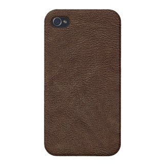Brown Textured Leather Cases For iPhone 4