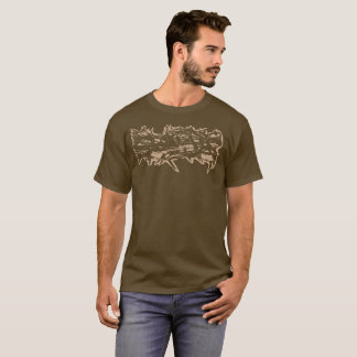 "Brown ""Thorns"" Stamped Shirt"