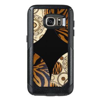 Brown Tiger Print Pattern Design OtterBox Samsung Galaxy S7 Case