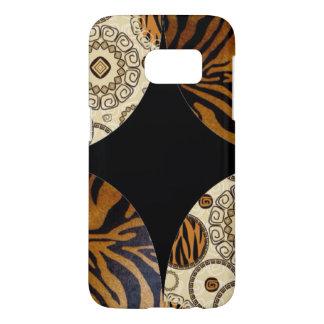 Brown Tiger Print Pattern Design Samsung Galaxy S7 Case
