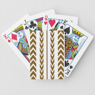 Brown Tire Tread Bicycle Playing Cards