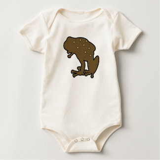 Brown Toad Baby Bodysuit