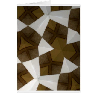 Brown Tone Geometric Pattern Cards