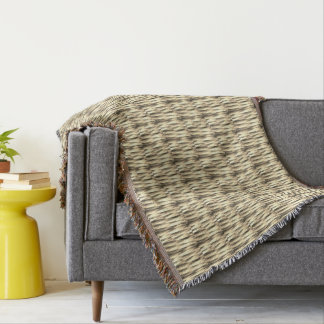 Brown tones colors stripes throw