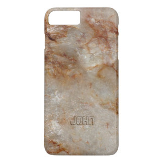 Brown Tones Marble Stone Pattern iPhone 7 Plus Case