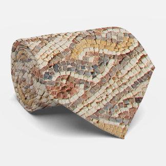 Brown Tones Mosaic Tile Floor From Israel Necktie