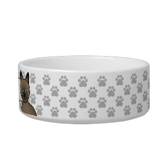 Brown Tonkinese Cat Cat Bowls