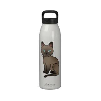 Brown Tonkinese Cat Drinking Bottle