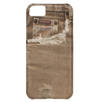 Brown Torn Denim Jeans Pocket  iPhone 5c Case