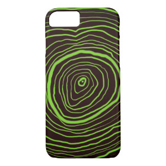 Brown Tree Rings iPhone Case