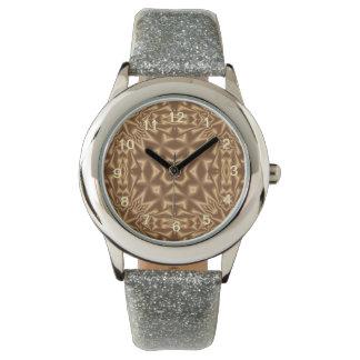 Brown trendy pattern watch