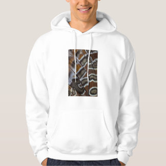 Brown tropical butterfly close-up hoodie