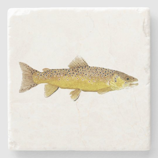 Brown Trout Coaster Stone Coaster