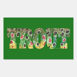 Brown Trout Design Sticker