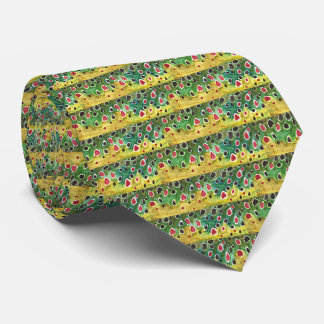 Brown Trout Fish Tie