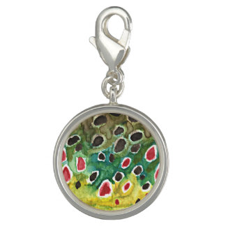 Brown Trout Fishing Charms