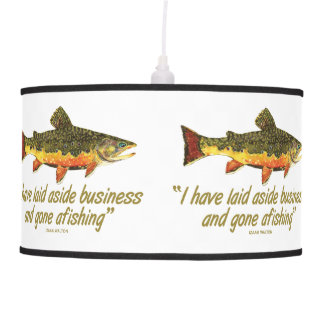 Brown Trout Fly Fishing Pendant Lamp