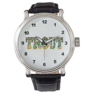 Brown Trout Fly Fishing Wrist Watch