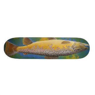 Brown trout skateboard