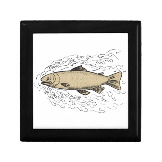 Brown Trout Waves Tattoo Gift Box